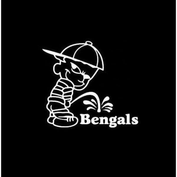 Calvin Piss on Cincinnati Bengals Decal Stickers
