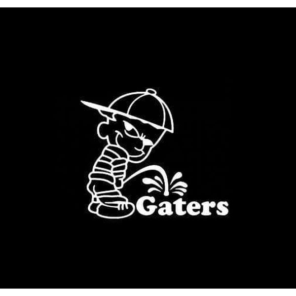 Calvin Piss on Florida Gators Decal Stickers II