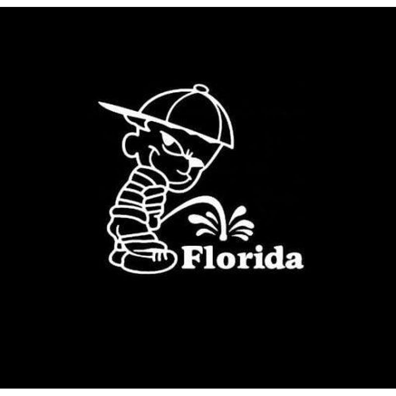 Calvin Piss on Florida Gators Decal Stickers