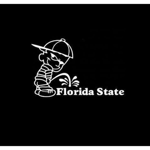 Calvin Piss on Florida State Seminoles Decal Stickers