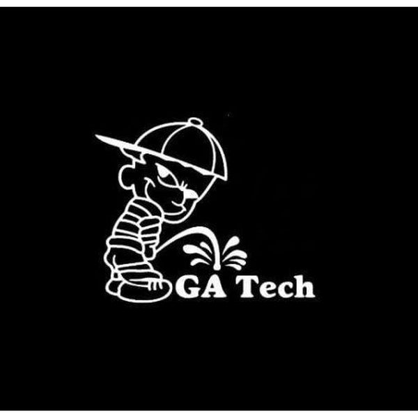 Calvin Piss on GA Georgia tech Decal Stickers