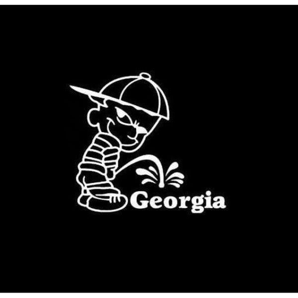 Calvin Piss on Georgia Bulldogs Decal Stickers