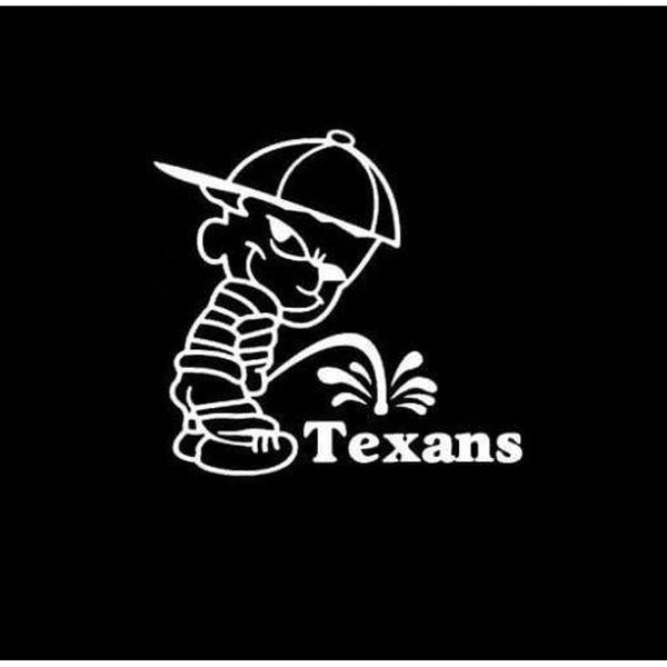 Calvin Piss on Houston Texans Decal Stickers