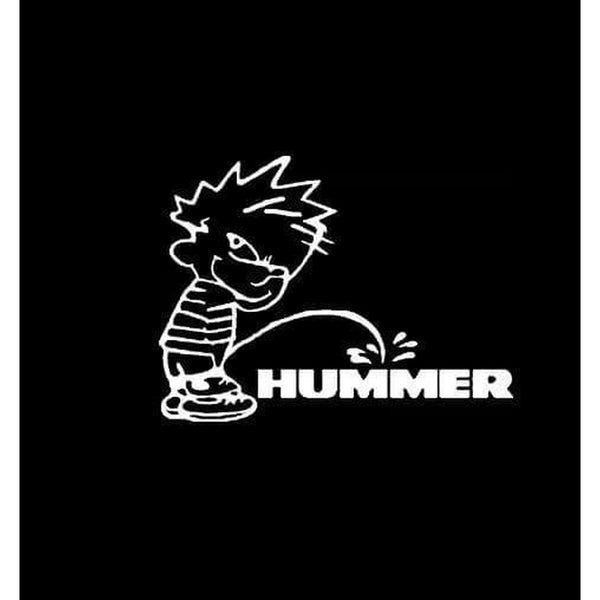 Calvin Piss on Hummer Decal Stickers