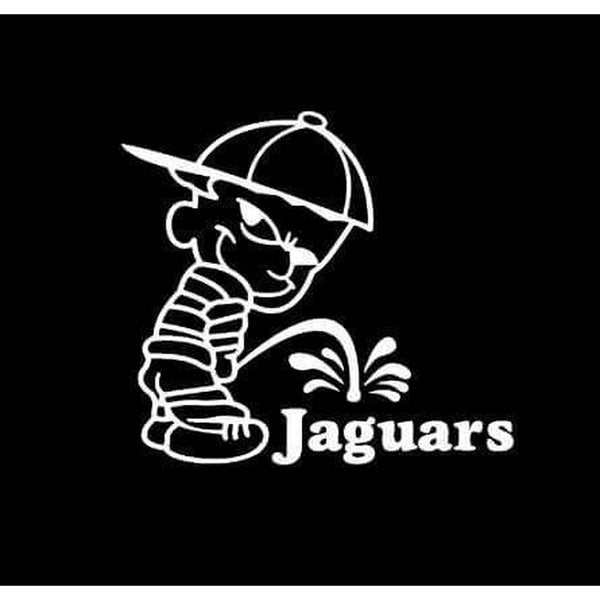 Calvin Piss on Jacksonville Jaguars Decal Stickers