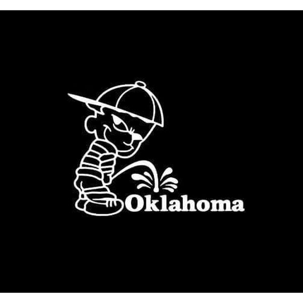 Calvin Piss on Oklahoma Sooners Decal Stickers