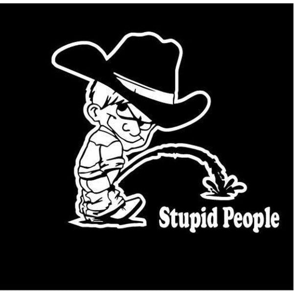 Calvin Piss On Stupid People Decal Stickers