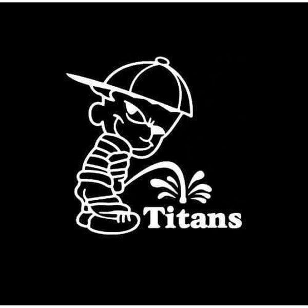 Calvin Piss on Tennessee Titans Decal Stickers