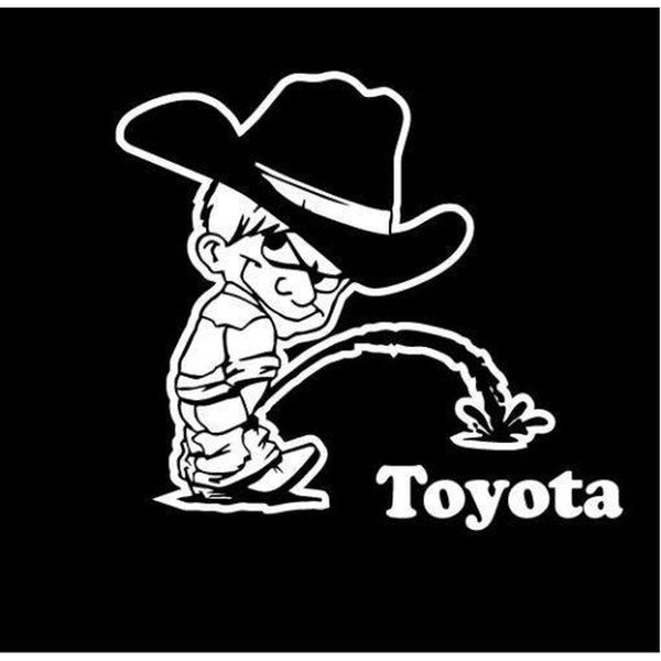 Calvin Piss On Toyota Decal Stickers