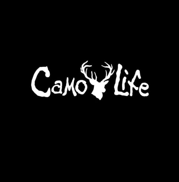 Camo Life Deer Hunting Window Decal Sticker
