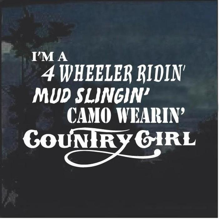 Camo Wearin Country Girl Window Decal Sticker