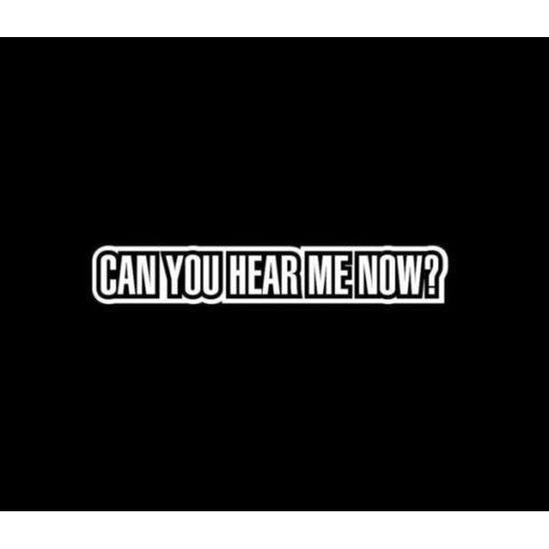 Can You Hear Me Now JDM Car Window Decal Stickers