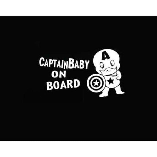 Captain America Baby – Baby on Board Sticker