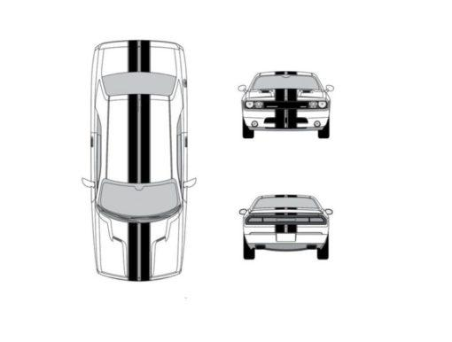 Car Racing Stripe – Chevy Camaro 10 inch Racing Stripe Decals
