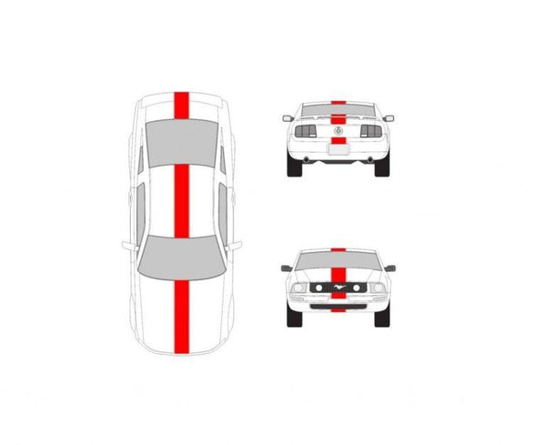 Car Racing Stripe – Ford Mustang 10 inch Racing Stripe Decals