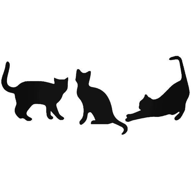 Cat Family Pet Decal Sticker