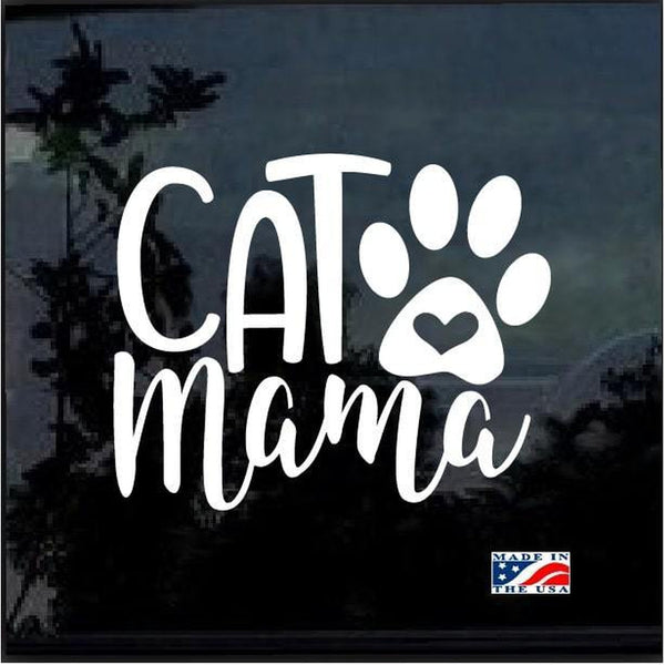Cat Mama Heart Paw Decal – Cat Stickers