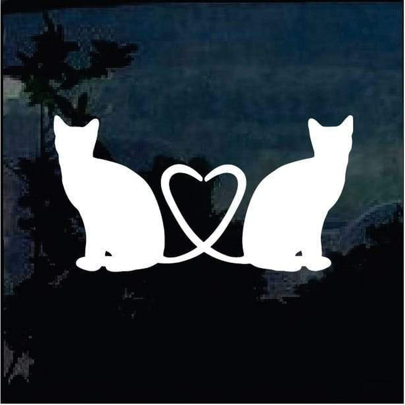 Cat Tails Heart Decal – Cat Stickers