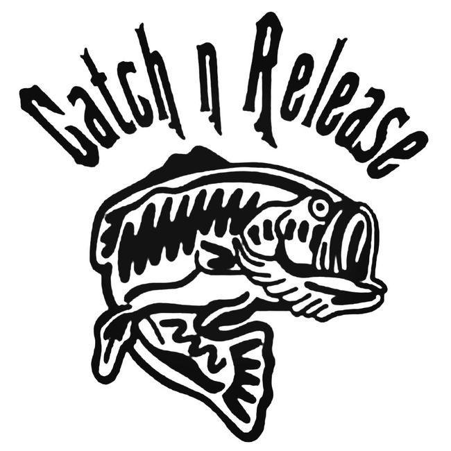 Catch And Release Bass Decal Sticker