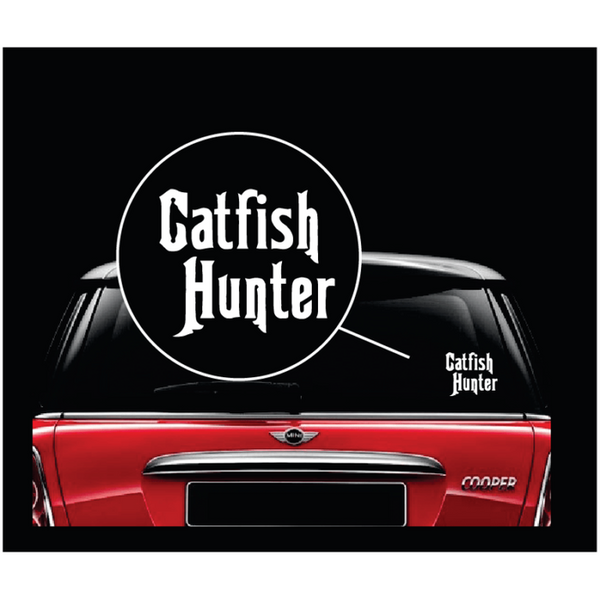 Catfish Hunter Window Decal Sticker A2