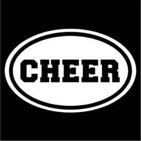 Cheer Oval Window Decal Sticker