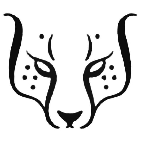 Cheetah Face Outline Decal Sticker