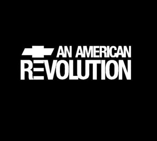 Chevy and American revolution Truck Decal Sticker