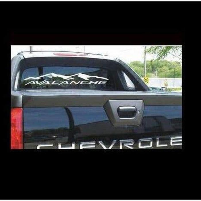 Chevy Avalanche Rear Window Decal Sticker