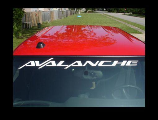 Chevy Avalanche Windshield Banner Decal Sticker