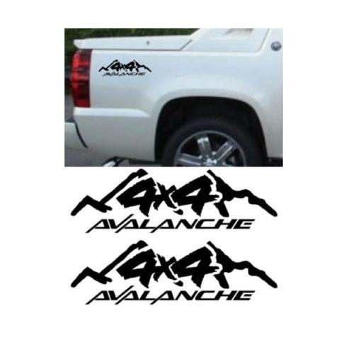 Chevy Chevrolet Avalanche Sticker Set of 2 – Truck Decals