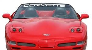Chevy Chevrolet Corvette Windshield Banner Decal Sticker A2