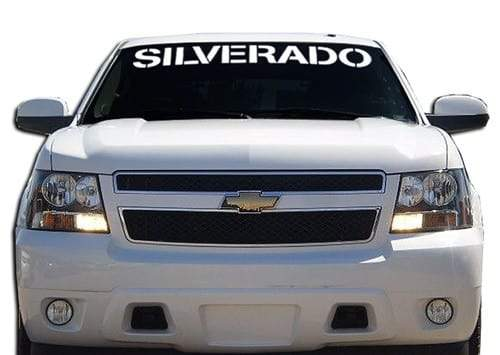 Chevy Chevrolet Silverado Windshield Banner Decal Sticker
