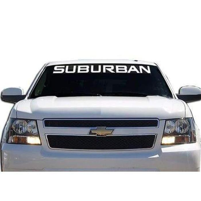 Chevy Chevrolet Suburban Windshield Banner Decal Sticker