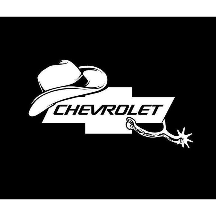 Chevy Cowboy Truck Decal Sticker