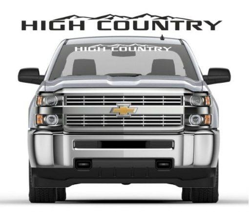 Chevy High Country – Windshield Banner Decal Sticker