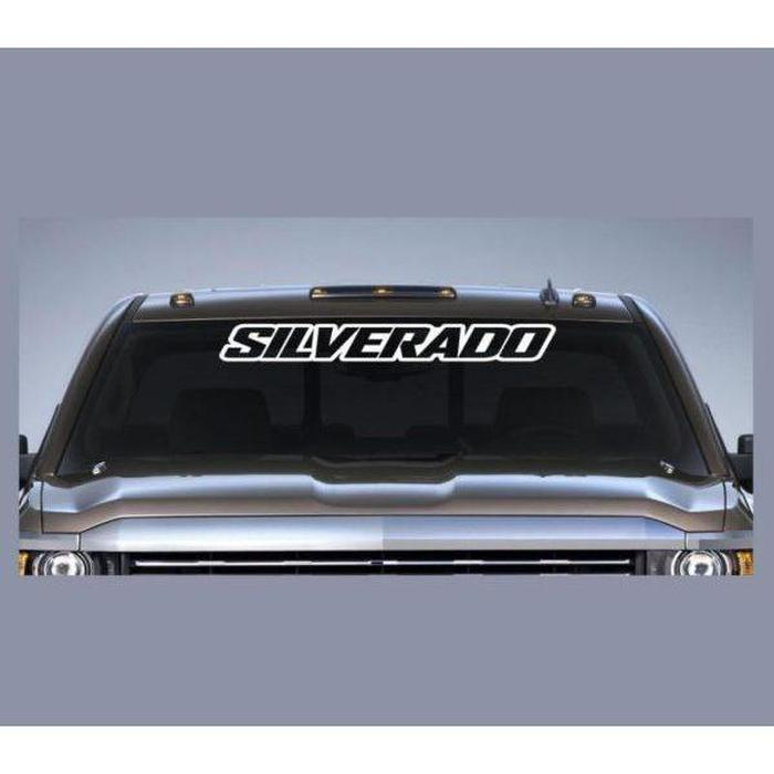 Chevy Silverado Windshield Banner Decal Sticker A3