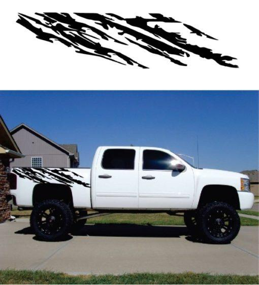 Chevy Truck Decal Sticker for Mud Splash Bedside Graphic Set of 2