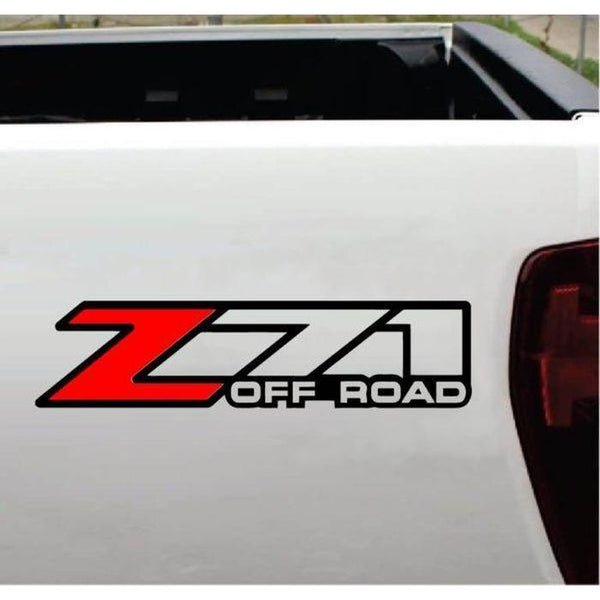 Chevy Z-71 Off Road 2 Color Set – 4×4 Decal Stickers