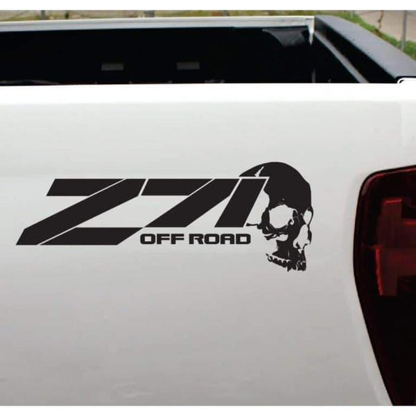 Chevy Z-71 off road Skull Sticker Set of 2 – 4×4 Decals