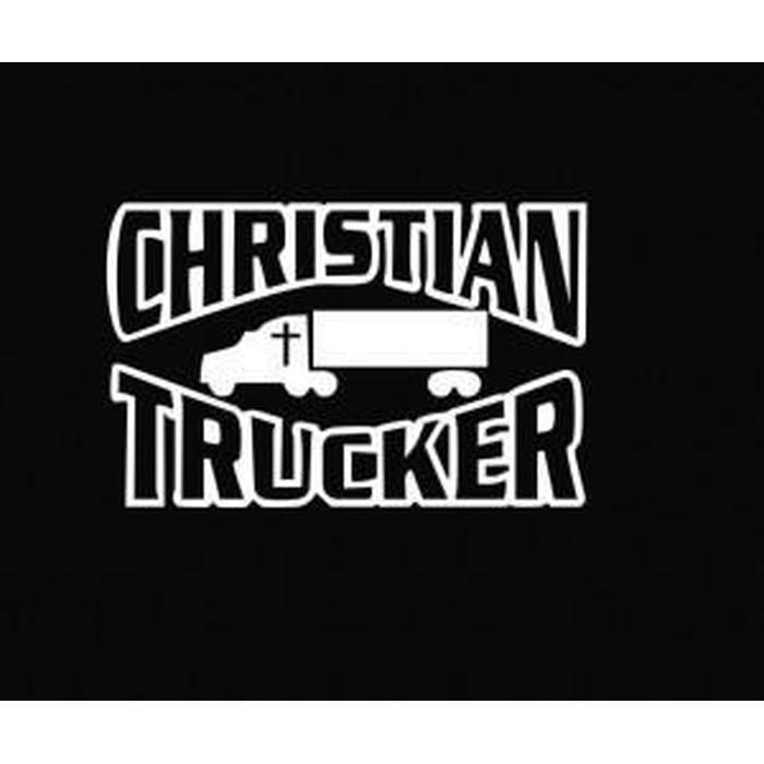 Christian Trucker Christian Decal Stickers