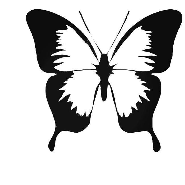 Classic Butterfly Decal Sticker
