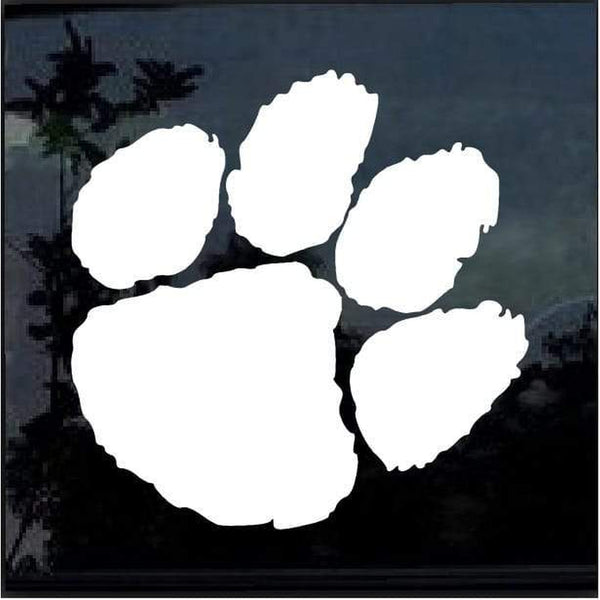 Clemson Tigers Paw 2 Window Decal Sticker