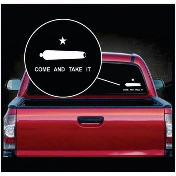 Come and Take it Cannon Window Decal Sticker
