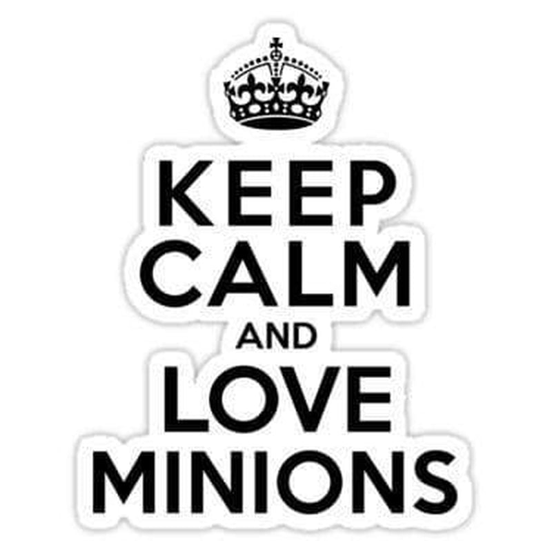 keep calm and love minions decal Laptop Decals Stickers