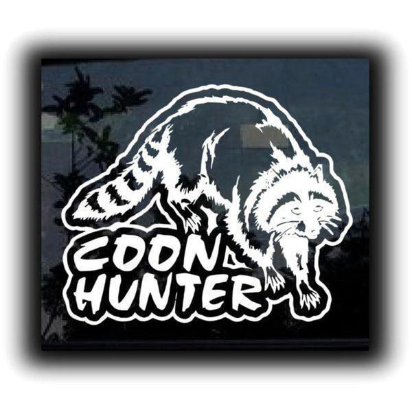 Coon Coon Hunter II Hunting Window Decal Sticker