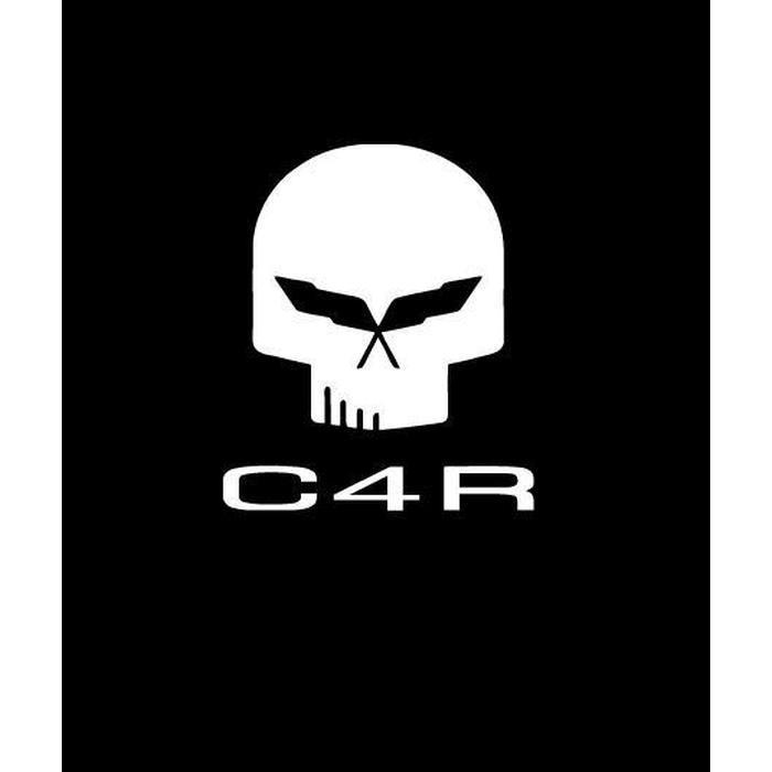Corvette C4R Skull Window Decal Sticker