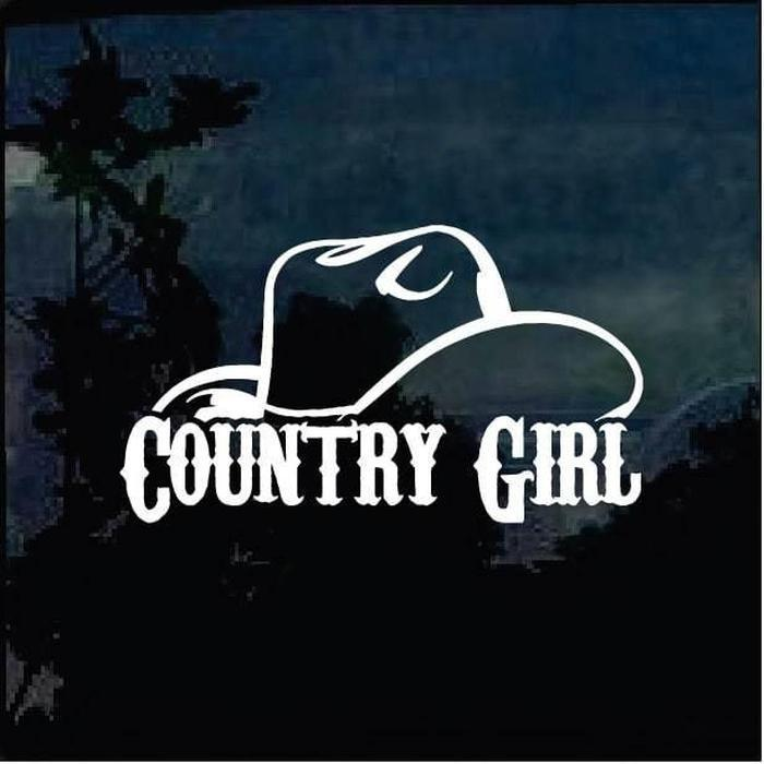 Country Girl Hat Truck Decal Sticker A11