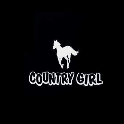 Country Girl horse Truck Decal Sticker