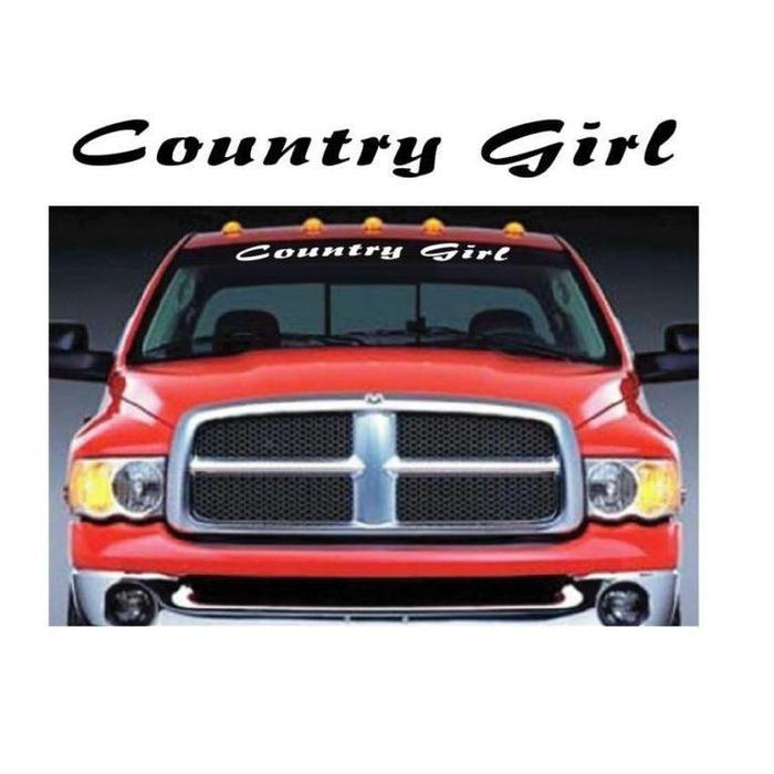 Country Girl Windshield Banner Decal Sticker