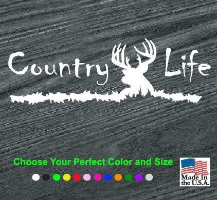 Country Life Deer Head Truck Decal Sticker